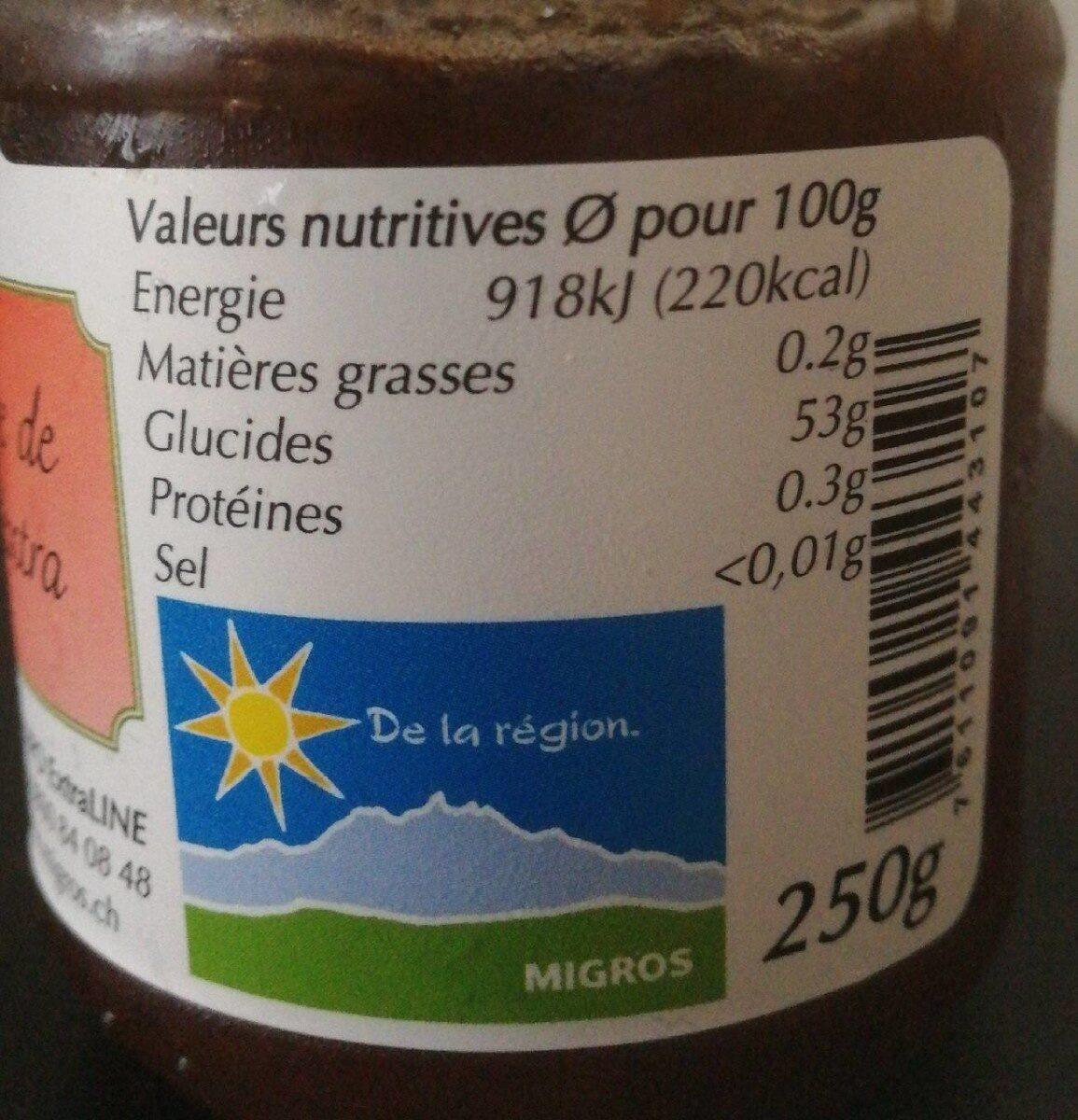 Confiture de fraise extra - Informazioni nutrizionali - fr
