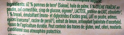 Stocki Express, Broccoli Und Creme Fraiche - Ingredienti - fr