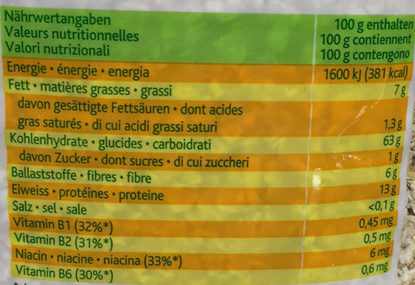 Knorritsch: Petits flocons d'avoine - Voedingswaarden - fr
