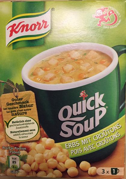 Quick Soup pois avec croûtons - Product