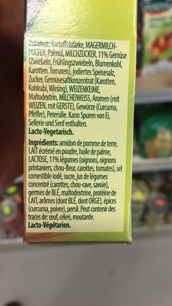 Quick soup, légumes - Ingrediënten - fr