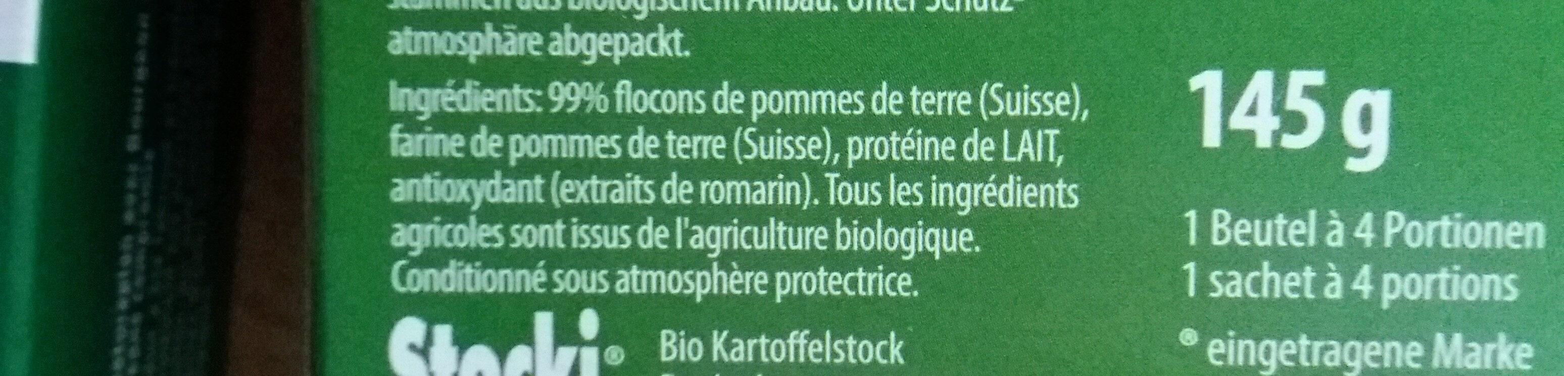 Stocki purée bio - Ingrediënten - fr