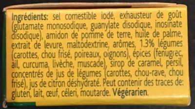 Bouillon de Légumes - Ingredienti - fr