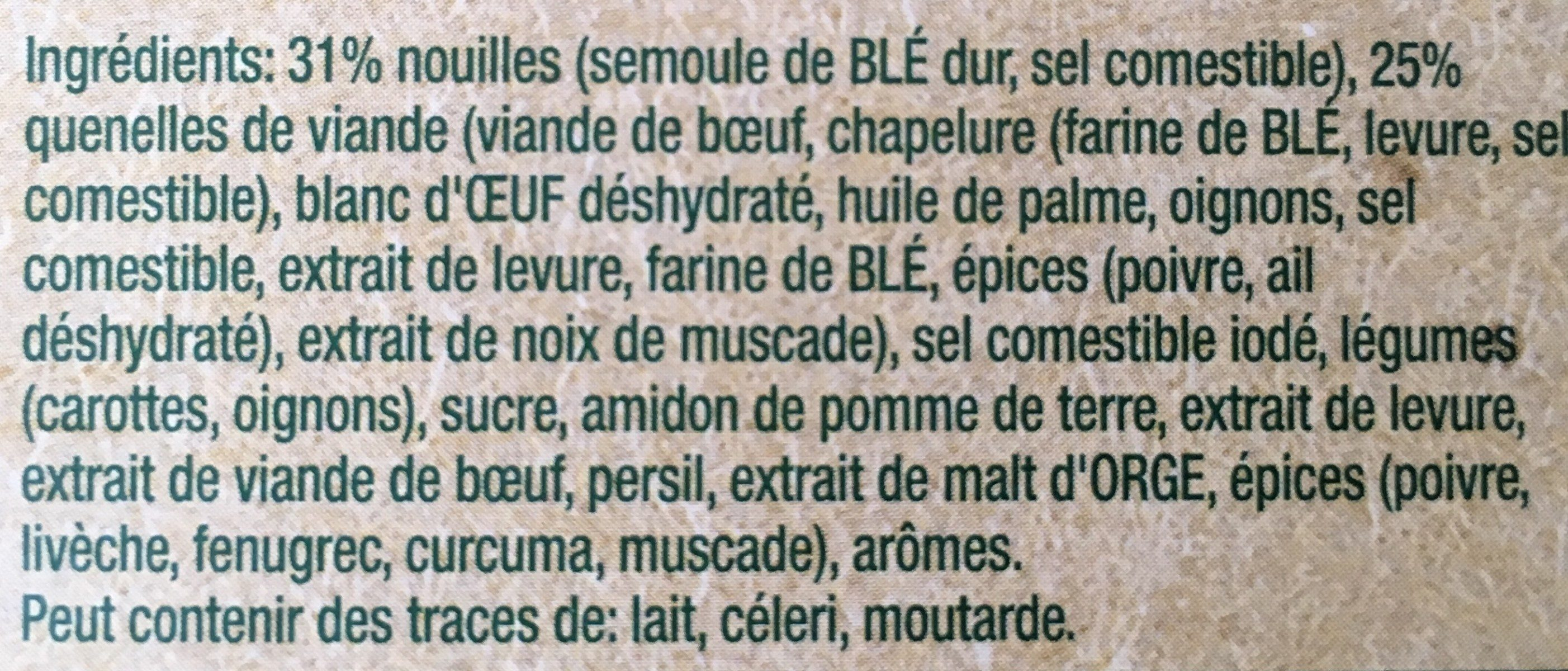 Quick Soup : Quennelles de Viande - Ingrediënten - fr