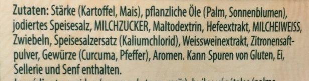 Fertigsauce, Weisswein Zitrone - Ingrediënten - de