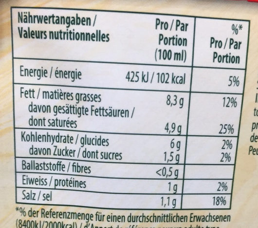 Fertigsauce, Weisswein Zitrone - Voedingswaarden - de