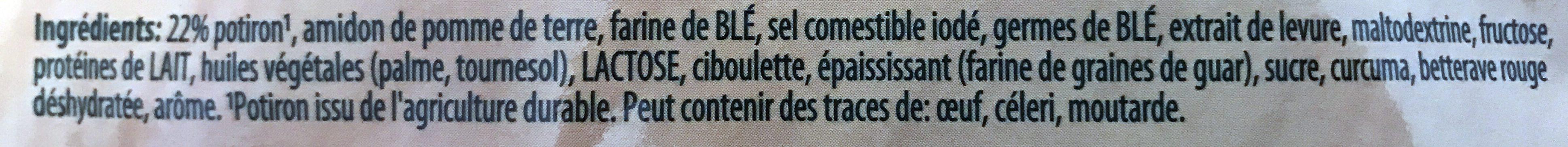 Crème de Courges - Inhaltsstoffe - fr