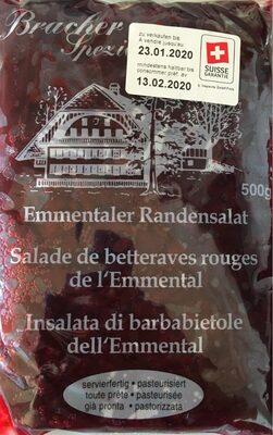 Bracher Spezialitäten Salade de betteraves rouges de l'Emmental - Produit