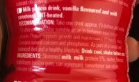 Protein Drink Vanillia - Ingredients - fr
