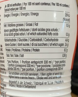 Protein Drink - Nutrition facts - fr