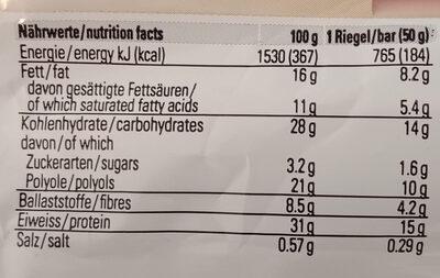 Cruche protein - Nutrition facts - en