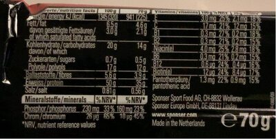 Protein 50 - Nutrition facts - fr