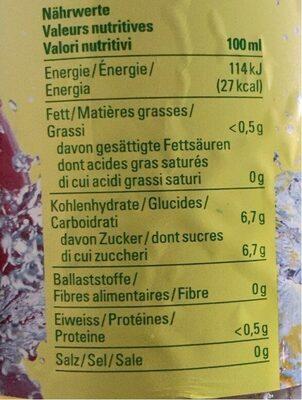Apfelschorle - Valori nutrizionali - fr