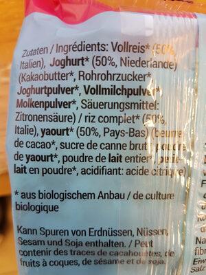 Vollreiswaffeln - Ingredients - fr