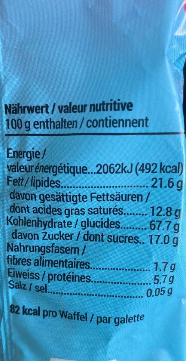 Vollreiswaffeln - Nutrition facts - fr