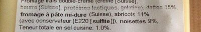 Fromage aux fruits - Ingredients - fr
