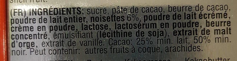 Love Swiss Chocolate Swiss Dream 150 GR - Ingredients