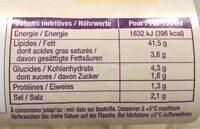 Sauce Grand-Mère aux herbes fraiches - Voedingswaarden - fr