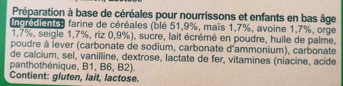 Milupa - Safari Kekse - Ingredients - fr