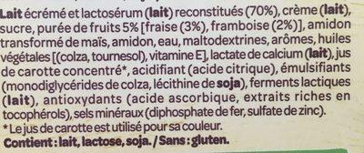 Le Petit Dessert Fruits Rouges - Ingrediënten - fr