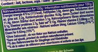 banane - Voedingswaarden - fr