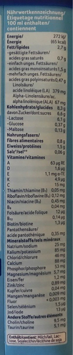 Aptamil Pronutra - Nutrition facts - fr
