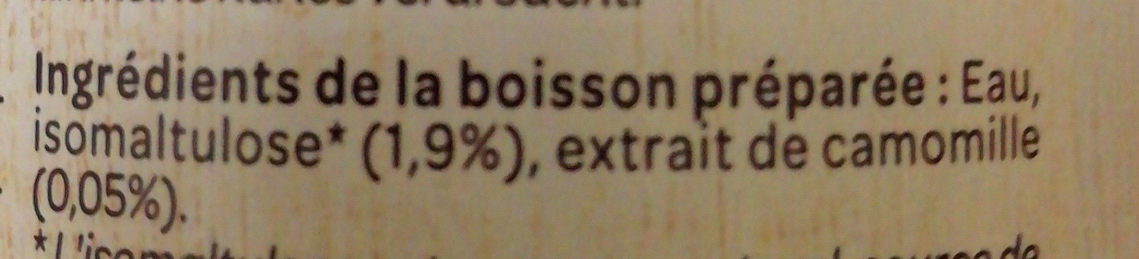 Boisson Camomille - Ingredients - fr