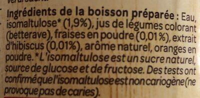 Boisson Fraise Hibiscus - Ingredients - fr