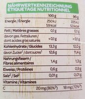 compote - Nutrition facts - en