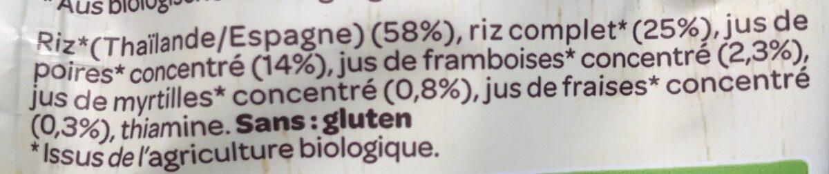 Galettes de riz - Ingredients - fr