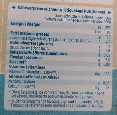 Le petit dessert - Nutrition facts - fr