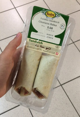 Tortillas Sandwich Chorizos-Salsa - Prodotto - fr