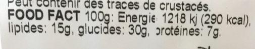 Tortillas Sandwich poulet-avocado - Valori nutrizionali - fr