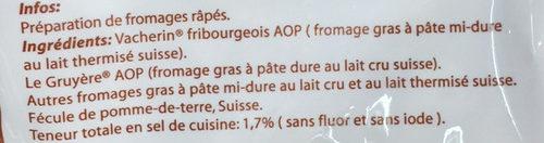 FONDUE PRÉPARATION AU FROMAGE ALPINA - Ingredients