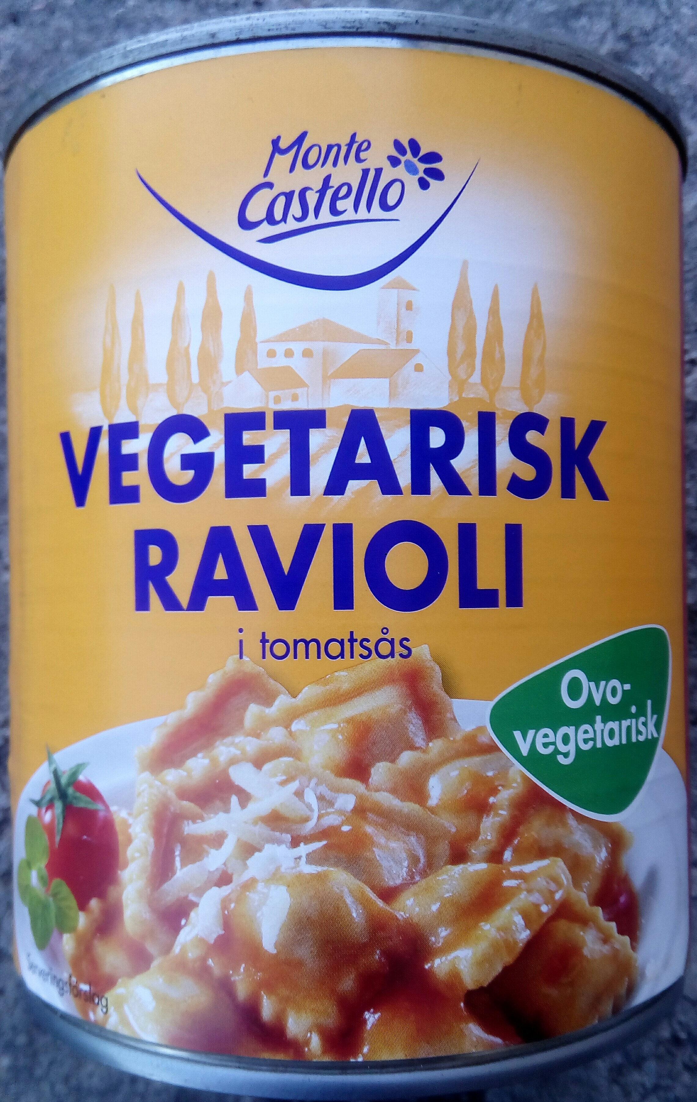 Monte Castello Vegetarisk ravioli i tomatsås - Produit - sv