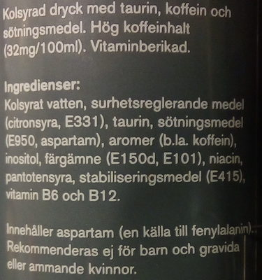 Powerking Zero - Ingredients