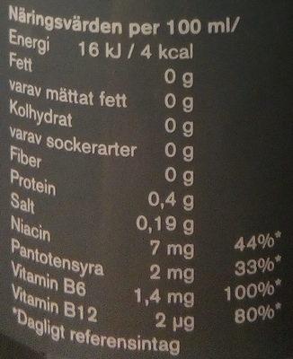 Powerking Zero - Nutrition facts