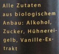 Eierlikör - Ingredients