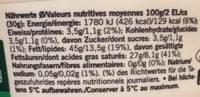 Mascarpone - Voedingswaarden - de