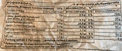 Couronne de Sils bio - Nutrition facts
