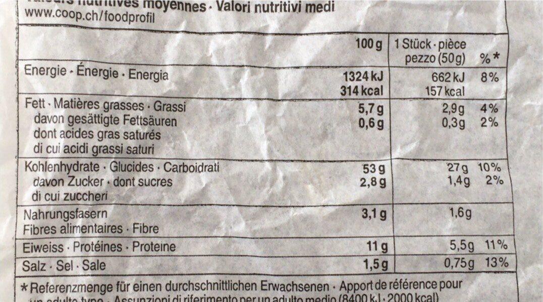 Couronne de Sils bio - Voedingswaarden - fr