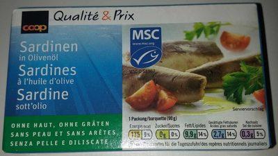 Sardines a l'huile d'olive sans l'eau et sans arêtes - Produit
