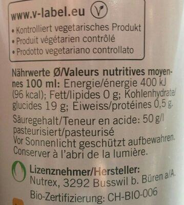 BALSAMIQUE DE POMME - Nutrition facts