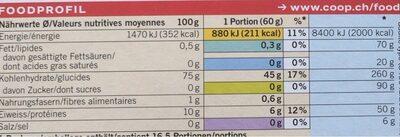 Basmati Rice - Nutrition facts - de