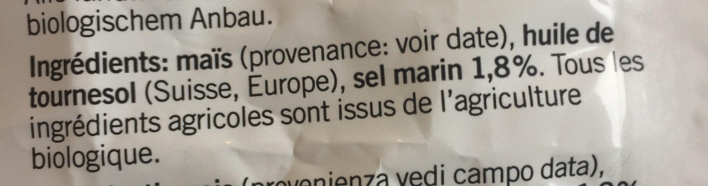 Popcorn Salé - Ingredienti - fr