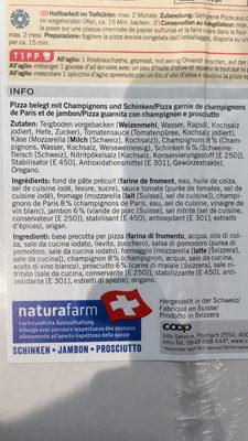 Pizza prosciutto & funghi - Ingredienti