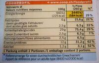 Pizza prosciutto & funghi - Valori nutrizionali - fr