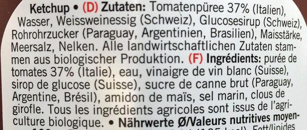 Ketchup - Ingrediënten - fr