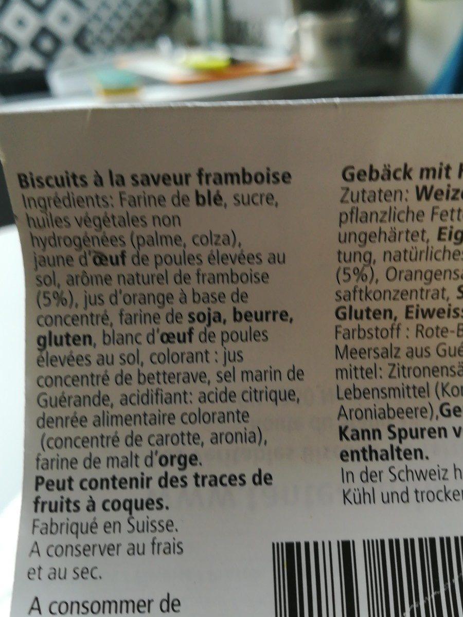 Les cœurs de framboises - Ingrédients - fr
