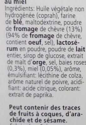 Les Dentelles Chèvre Miel Baies Roses - Ingrediënten - fr